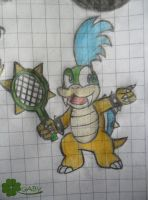 Larry Koopa Sketch by xxGaby-23xx