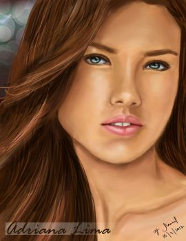 Adriana Lima Digital Portrait by Gege4U