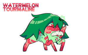 [C] - Corrupted Watermelon Tourmaline by FloofHips