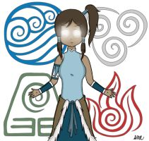 Request 3- Korra's Avatar State by BritishGentleLady