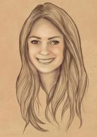 Portrait Comission Tanya by BasakTinli