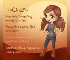 Chai - OC Dossier by Jellyfish-Station