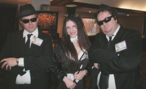 The Blues Brothers and Zatanna by MLBlue