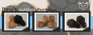 Bing's feetpaws - Outdoor by FurryFursuitMaker
