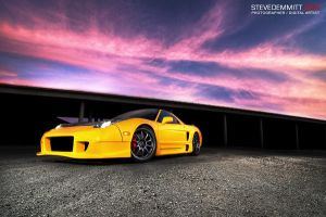 NSX against the sunset by SteveDemmitt