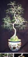 ORIENTAL BONSAI - Wire Tree Sculpture by SalVillano
