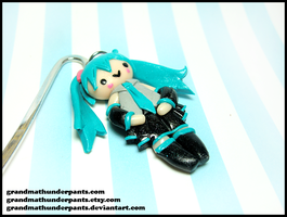 Miku Bookmark by GrandmaThunderpants