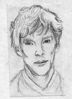 Benedict Cumberbatch *Fast Sketch* by MeryHeartless