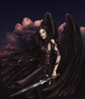 Fallen Angel by LuneDeCreset