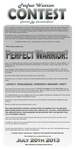 Perfect Warrior Contest 2013 (CLOSED) by CeruleanOasis