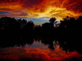 Sky on Fire Revisited by Photoshop-Wizard