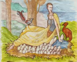 Inanna Heydrich and the tree - laying eggs by hello-heydi
