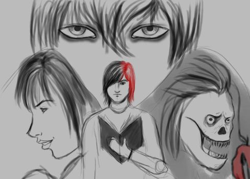 Daily Sketch #5 Death Note by jim-alex