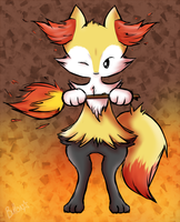 Braixen by ButtonWolfeh