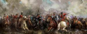 Cavalry Battle 1813 by Mitchellnolte