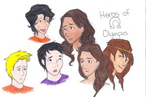 Hero of Olympus Characters by Ara-bell