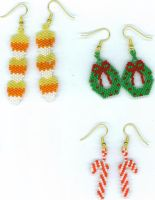 Beaded Holiday Earrings by sioranth
