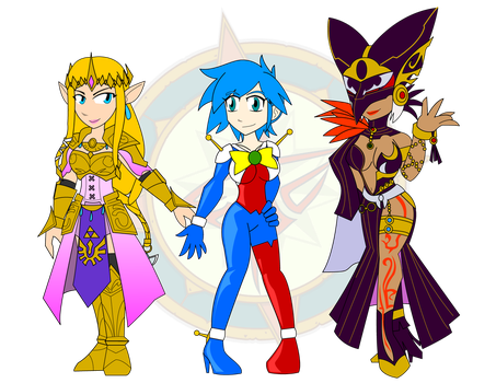 Queen, Fighter and Sorceress by Dragon-FangX