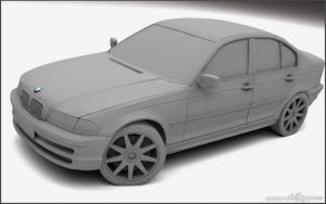 BMW 328i test render by admax