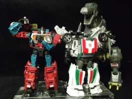Wheeljack and Perceptor create Dinobot Grimlock! by forever-at-peace