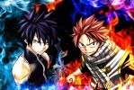 Natsu and Gray ~Fairy Tail by DaOneWithZest