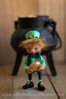 Wee O Gold , the Leprechaun .SOLD by dodoalbino