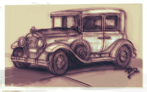 1920's Car Sketch (2) by JesseThompson