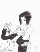 SasuNaru: Peaceful... by cloudstrifejen