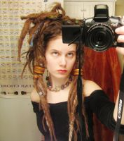 Brown  old time looking Dreadlock beads by syrenfire