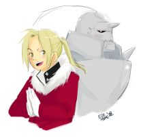 Elric Brothers by EdoMame