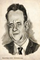 Tom Hanks Caricature by kineticdan