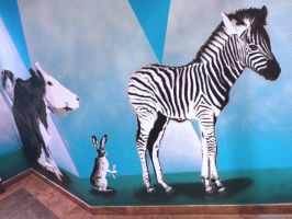 vegan shopping zebra by Burgi687