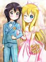 Yui and Kyouko's wedding by VZMk2