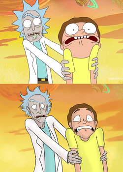 Rick and Morty - scene redraw by Koekjen