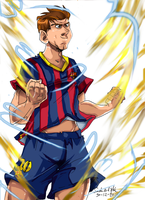 how cules do see messi  recovered from the injury by Sandra-delaIglesia