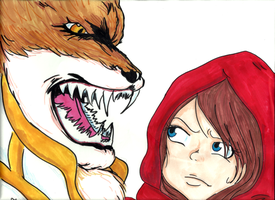 Lil' Red Riding Quincy and The Wolf by RomaniaBlack