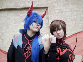 Meiko and Kaito - Scarlet Demon of the Pavement by PaneDhiria
