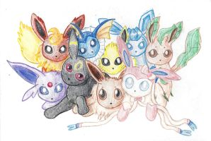 Lil Eeveelutions by 1Apple-Of-My-Eye