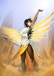 Commission: Honey Bee as Mercy by R-Legend