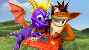 Crash and Spyro by BrandiSwick227