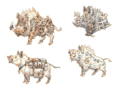 Boars by eoghankerrigan