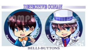 Detective Conan Buttons by jinyjin