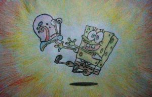 Spongebob and Gary by ninebreaker-09