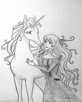 Lady Amalthea and the Unicorn by Clanaad