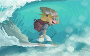 Nomad Kid Out for a Surf by PiratoLoco