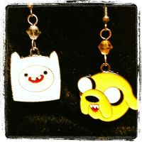 Adventure Time Finn and Jake Crystal Earrings by GeekStarCostuming
