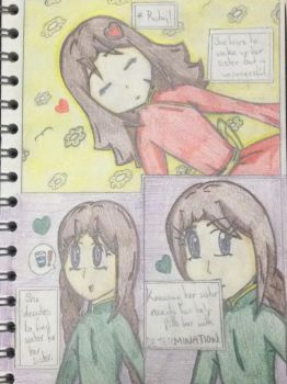 Ruby and Emerald in Undertale - 2.Determination by MapleMochi06
