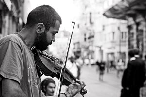 Turkish Street Violinist by dincturk