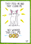 Cat God by qwertypictures