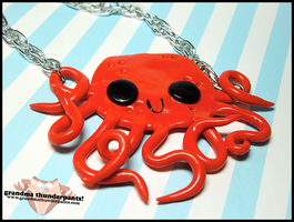 Octopus Love Necklace Remake by GrandmaThunderpants